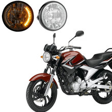 High Quality  Motorcycle LED Headlight Front Light For Harley Motorcycle  yellow lighting (China (Mainland))