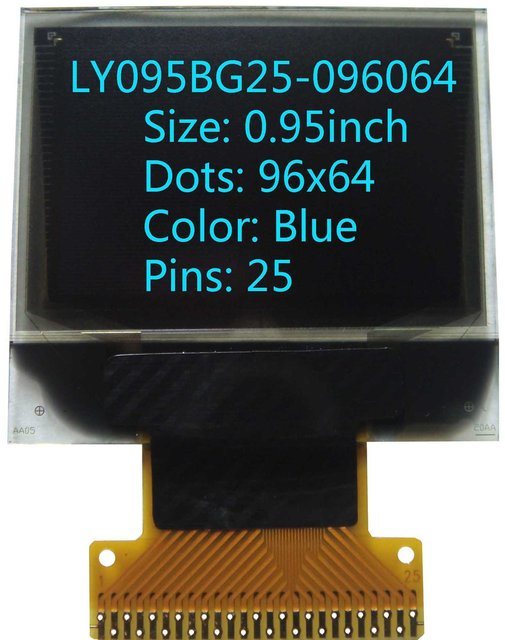 0.95 inch 96x64 oled screen oled display  OLED