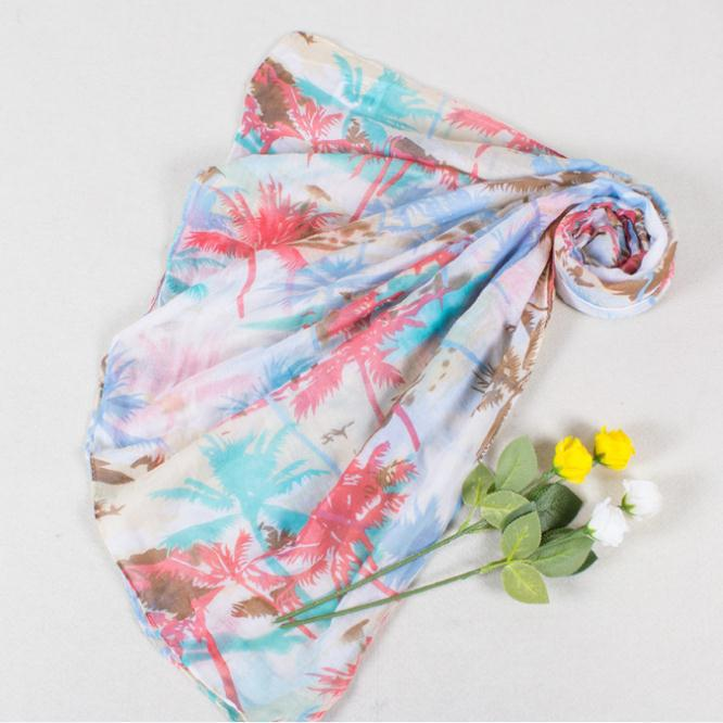2015 Women Summer Accessories Korean Style Women Scarf Printing Trees Scarves Sunscreen Scarf Female Shemagh Size:180*45(China (Mainland))