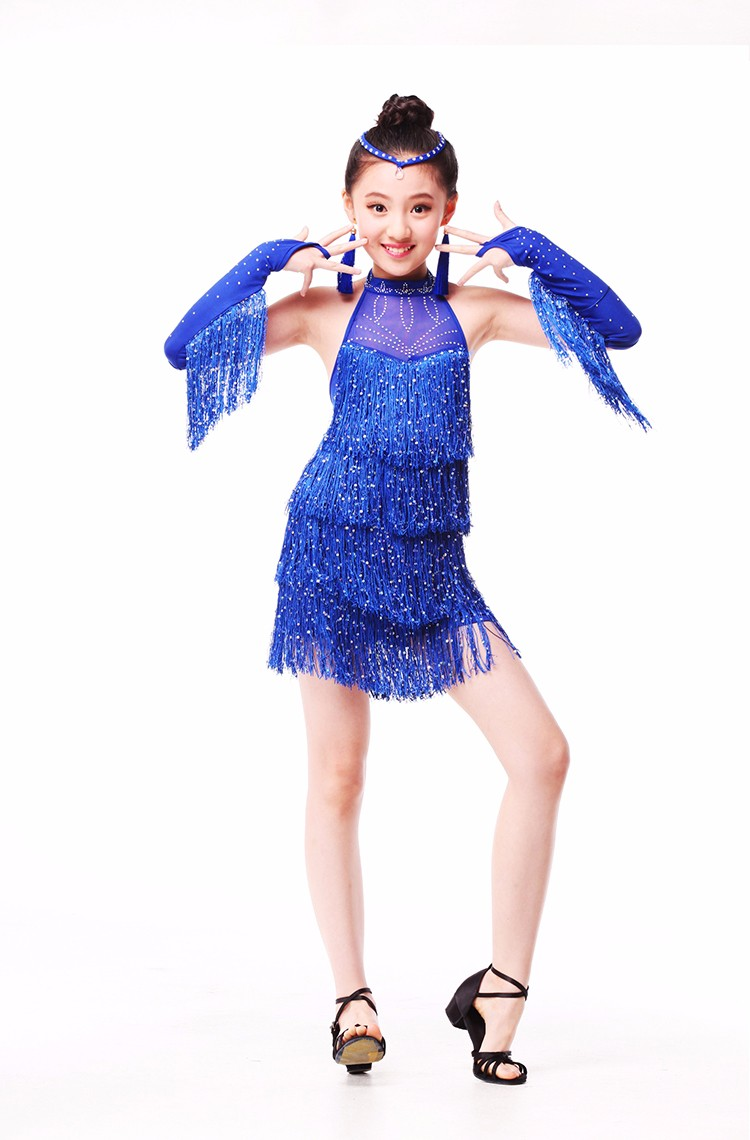 DB23905 Fringe latin dance dress-13