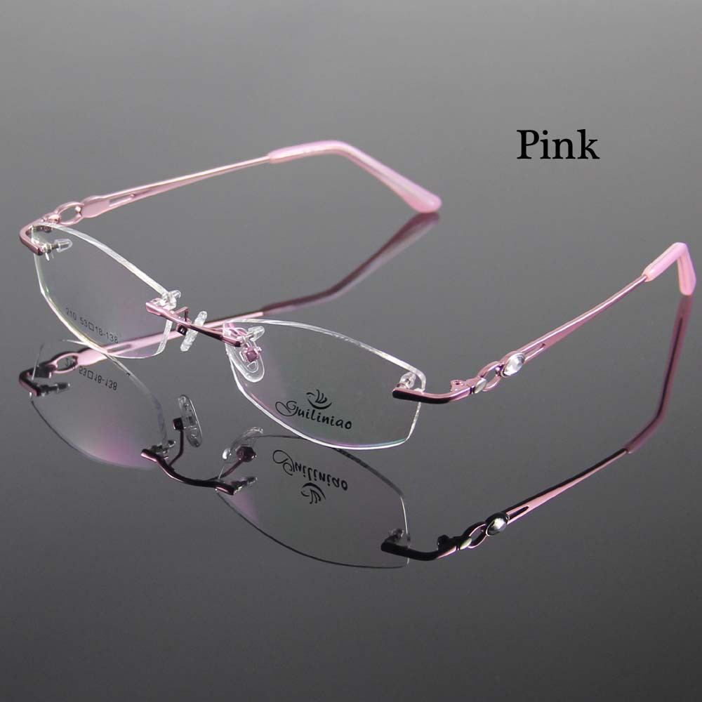 Rimless Eyeglass Frames Designer : Rimless Womens Glasses Frame Designer Spectacles Women ...