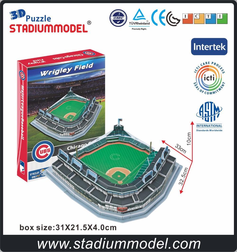 MajorLeagueBaseball MLB Chicago Cubs Home Wrigley Field Stadium 3D Puzzle Model Paper<br><br>Aliexpress