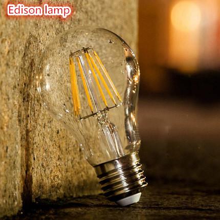New arrival Edison LED lamp E27 Dimmable 2W 4W 6W 8W Led Bulb E27 110V 220V White/ Warm white Energy Saving LED light(China (Mainland))