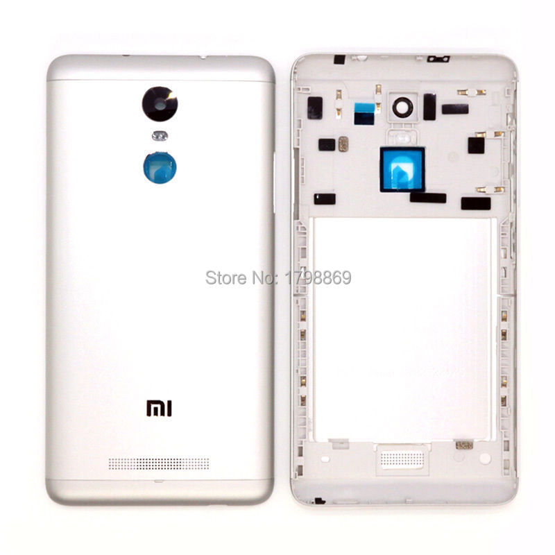 New Original Spare Parts for Xiaomi Redmi Note 3 Back Battery Cover Door Housing + Side Buttons + Camera Flash Lens Replacement