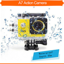 HOT SALE HD 720P extreme sports Digital camera 1.5 '' screen underwater camera 30m waterproof action mini camcorder A7 HD camera(China (Mainland))