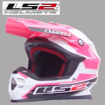Free Shipping LS2 MX456 with a balloon professional off-road helmet motocross helmet full helmet /Pink Preferred(China (Mainland))