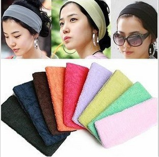 Min. order $9(mix order) Candy Color Toweled Hair Bands Sports Yoga Hair Accessory(China (Mainland))