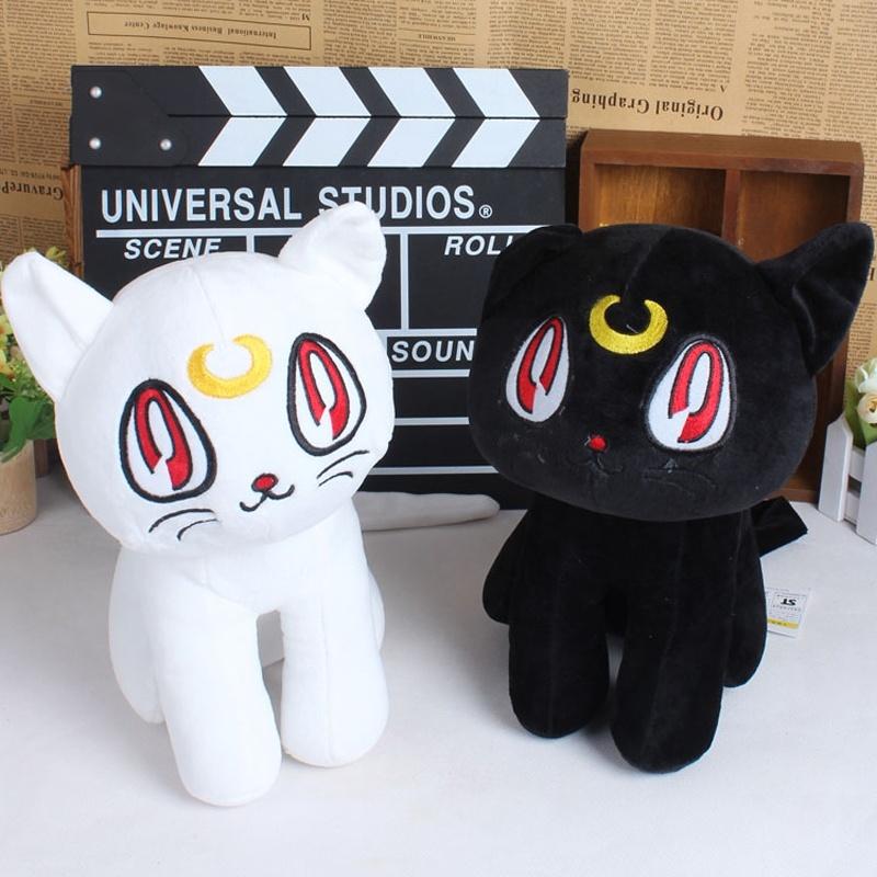 12'' Sailor Moon Cat Luna Plush Cartoon Toys Stuffed Animal Plush Doll 3 Color(Black / White / Purple)(China (Mainland))