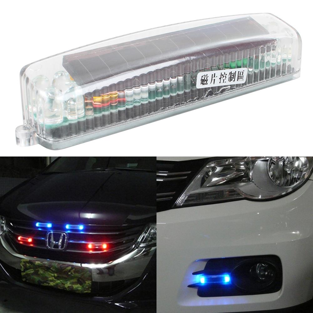 fashinable car solar strobe flashing lights emergency light auto. Black Bedroom Furniture Sets. Home Design Ideas