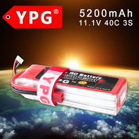 YPG 3S 11.1V 5200Mah  40C  Lipo Li-Po Lipoly Battery  for RC Helicopter & Airplane & Car