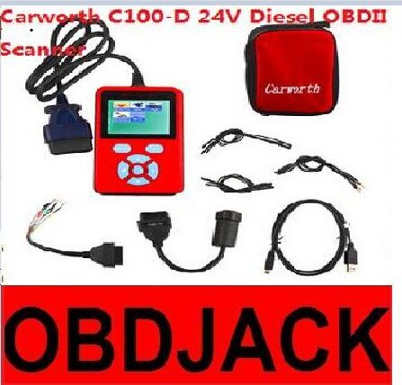 2016 New Arrival Carworth C100-D 24V Diesel Universal OBDII Scanner Carworth C100 D Car Diagnostic Tool Fast Express Shipping(China (Mainland))