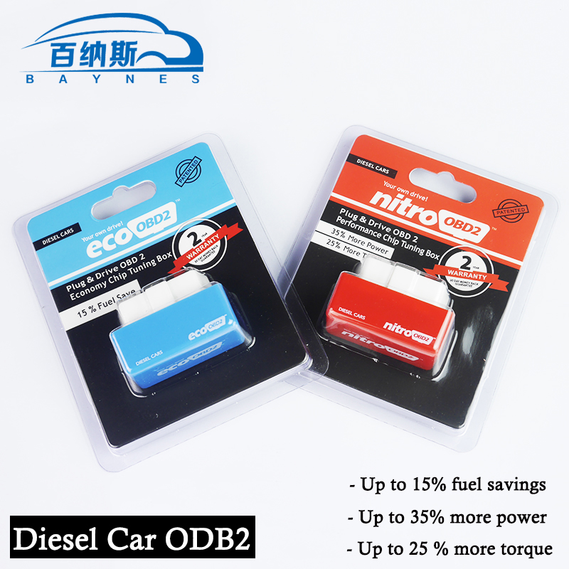 EcoOBD2 Chip Tuning Box for Diesel Cars 15% Fuel Save and NitroOBD2 Chip Tuning Box for Diesel Cars to Enhance the power by 35%(China (Mainland))