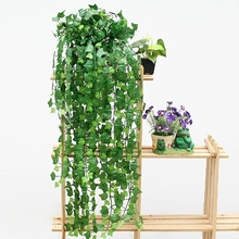 New Delightful Natural 1Pc 8.2Feet Artificial Hanging Ivy Leaves Plants Vine Fake Foliage Party Decor(China (Mainland))