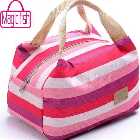 Magic fish! women bags lunch bag cooler insulated picnic bag kid canvas bags for women thermal insulation bolsa termica HL6468mf(China (Mainland))