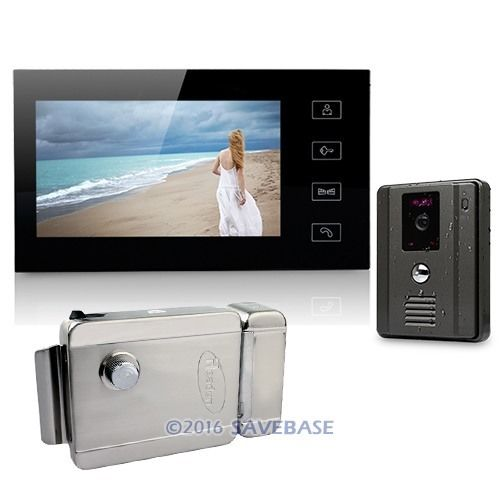 "7"" Video Door Phone System Home Security Intercom 700TVL IR Camera Electric Lock(China (Mainland))"