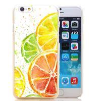 877-HOQE Juicy Citrus Watercolor Transparent Hard Case Cover for iPhone 6 6s plus 5 5s 5c 4 4s Phone Cases