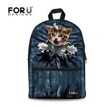 Buy Cute Women Backbag 3D Animal Backpacks Cat Printing School Bagpack Girls Students Children's School Laptop Backpack for $23.19 in AliExpress store
