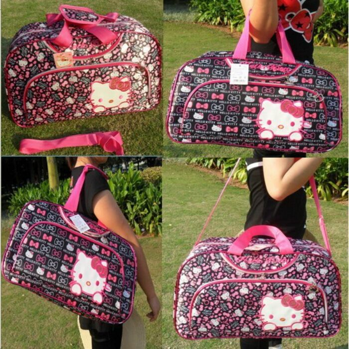 2015 new Travel bag luggage laptop bag One Shoulder Cross Body Bag hello Kitty bag large loading capacity Free Shipping(China (Mainland))