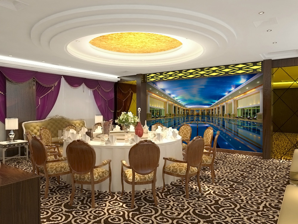 Eco friendly 3d huge mural luxurious swimming pool House with swimming pool in living room