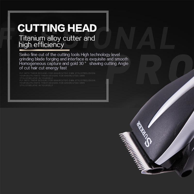 SURKER Electric Professional Men Hair Trimmer Strip-line Hair Cutting Machine Adjustable Hair Clipper Low-Noise Safe SK-5603