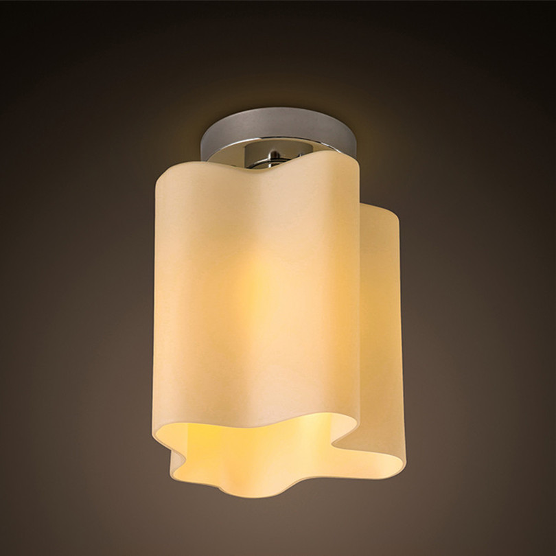 1 Head kea Creative Cloud Frosted Glass Design Modern Simple Led Ceiling Chandelier With 3w Led Original Bulb<br>