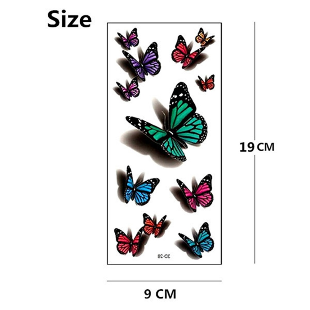 Amazing 3d Butterfly Flash Tattoo Sticker Temporary Body Art 19 9cm Waterproof Henna Tatoo Summer Style