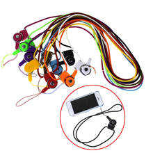 New Rotary buckle strap mobile phone lanyard lanyard security badge chain multifunctional long neck hanging detachable strap(China (Mainland))