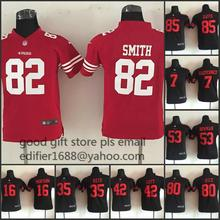 100% stitched youth San Francisco 49ers children 16 Joe Montana 42 Ronnie Lott 80 Jerry Rice 82 Torrey Smith 81 Anquan Boldin()