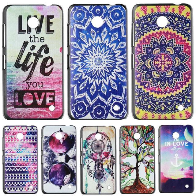Anchor Cartoon Pattern Plastic Hard Back Case for Nokia Lumia 630 635 N630 N635 Phone Protective Cover Capa Celular(China (Mainland))