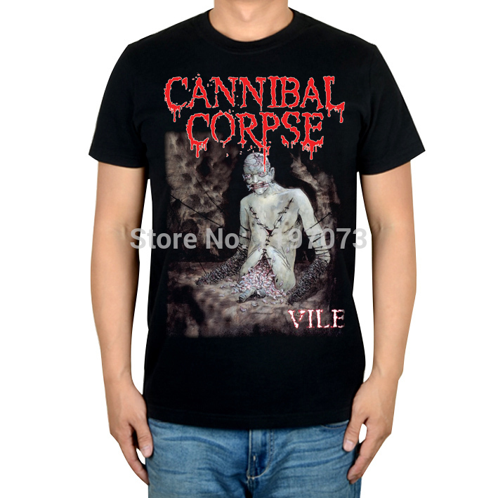 Extreme metal band Cannibal Corpse vile cover Brutal Death Metal album cover men's top newT-Shirt(China (Mainland))
