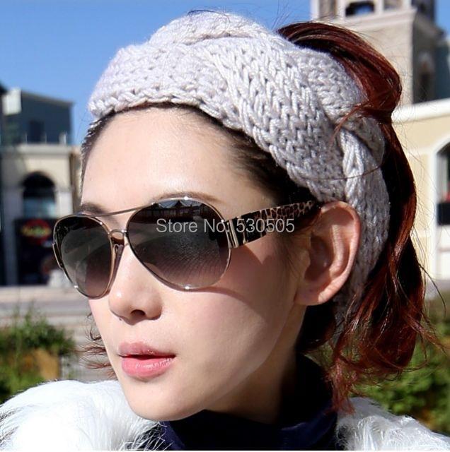 Classic handmade knitting headband,Alice band,wide hair ribbon ,crochet tenia,Can Mix quantity and color free DHL/EMS/fedex(China (Mainland))