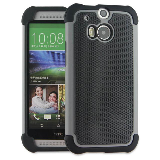 For HTC One M8 case silicone Armor impact Heavy Duty Double protection Rubber Shockproof Silicone + Hard Hybird For HTC M8 Cover(China (Mainland))