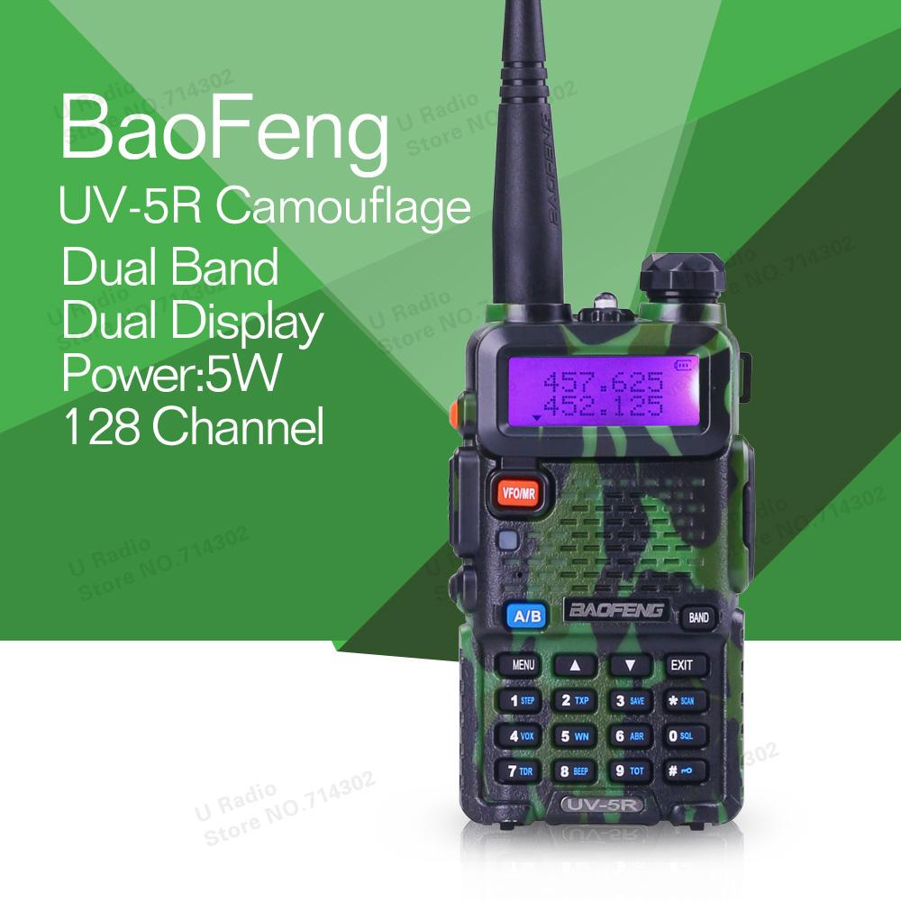 Promotion Camouflage BAOFENG UV-5R Dual Band Walkie Talkie Handheld Radio With Free Shipping(China (Mainland))