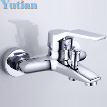 Free shipping Polished Chrome Finish New Wall Mounted shower faucet Bathroom Bathtub Handheld Shower Tap Mixer Faucet  YT-5339-A(China (Mainland))