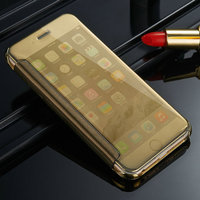 Electroplate+PU Leather Flip Cell Phone Case For Samsung Galaxy S6 S6edge, Unique Design Cover For iPhone 5 5s 6 6s 6plus