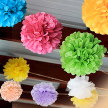 "Buy 5PCS Multi Color 8"" 20cm Paper Flowers Kissing Ball Wedding Home Birthday Party&Wedding Car Decoration DIY Tissue Paper Pom Poms for $1.85 in AliExpress store"