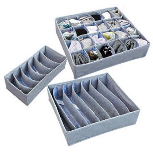 Bamboo Charcoal Sock Bras Shorts Storage Closet Organizer Box Bag 2Set(China (Mainland))