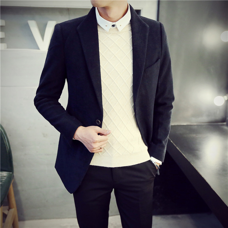 2016 New Brand Spring Fashion Slim fit Suit Mens Blazers Spring Notched Long Sleeve Business Casual Suit Jacket Man 994017