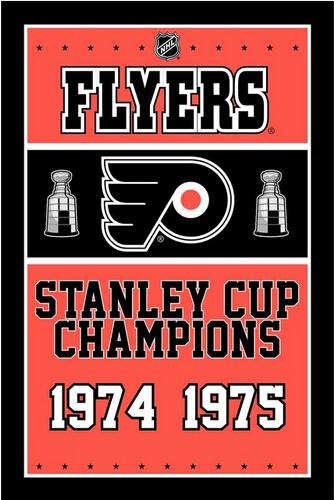 3X5FT NHL Philadelphia Flyers flag Stanley Cup champions banner metal Grommets Free Shipping custom flag 100D Digital Print(China (Mainland))