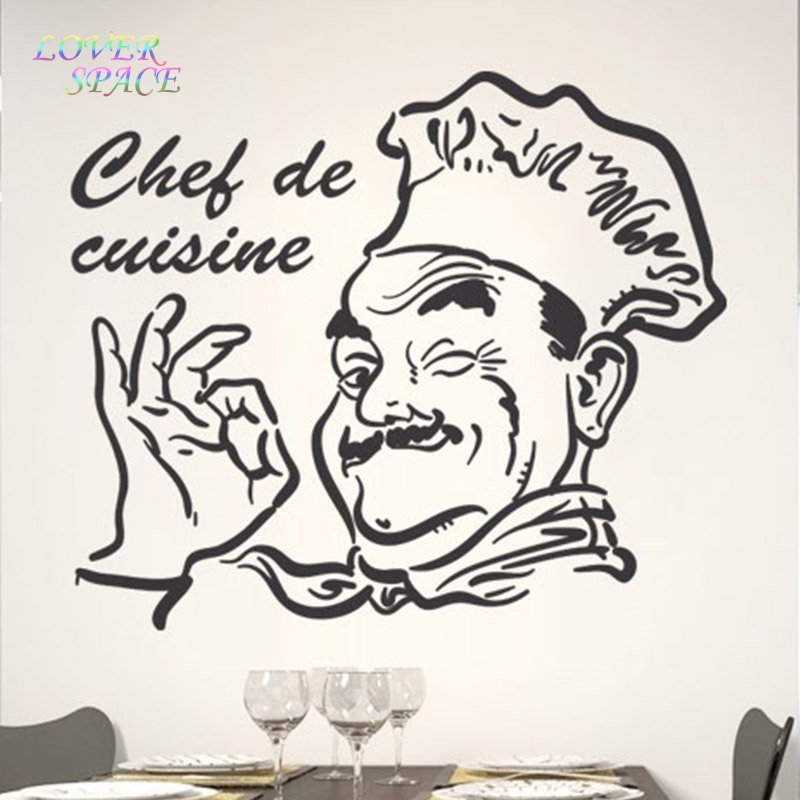 Buy chef de cuisine removable decor for Poster deco cuisine