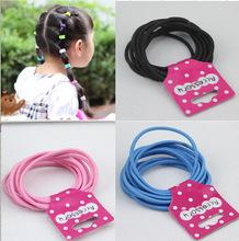 10pcs/lot colorful Hair Ornaments bandage head kids girls Headband elastic band Ring Circle Gum Scrunchies hair accessories 655