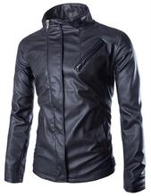 New Spring Collar Oblique Pocket Slim Leather Coats Men's Solid Washed Motorcycle Jackets Fashion Camperas De Cuero De Hombre(China (Mainland))