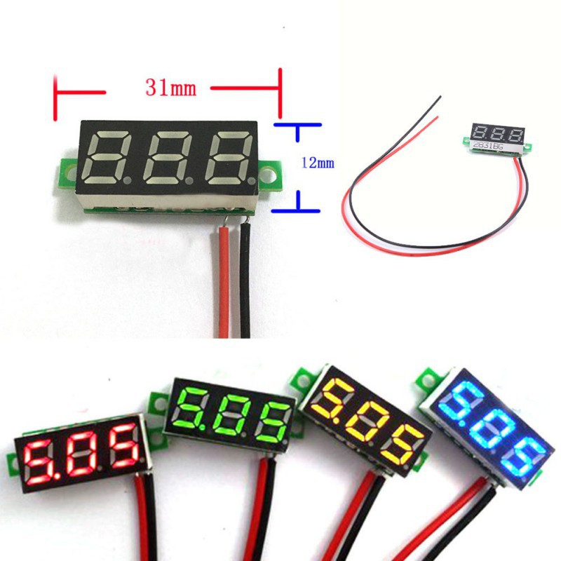 Hot 2 5 30V OR 4 5 30V DC Car Motor Red LED Digital Voltmeter Volt