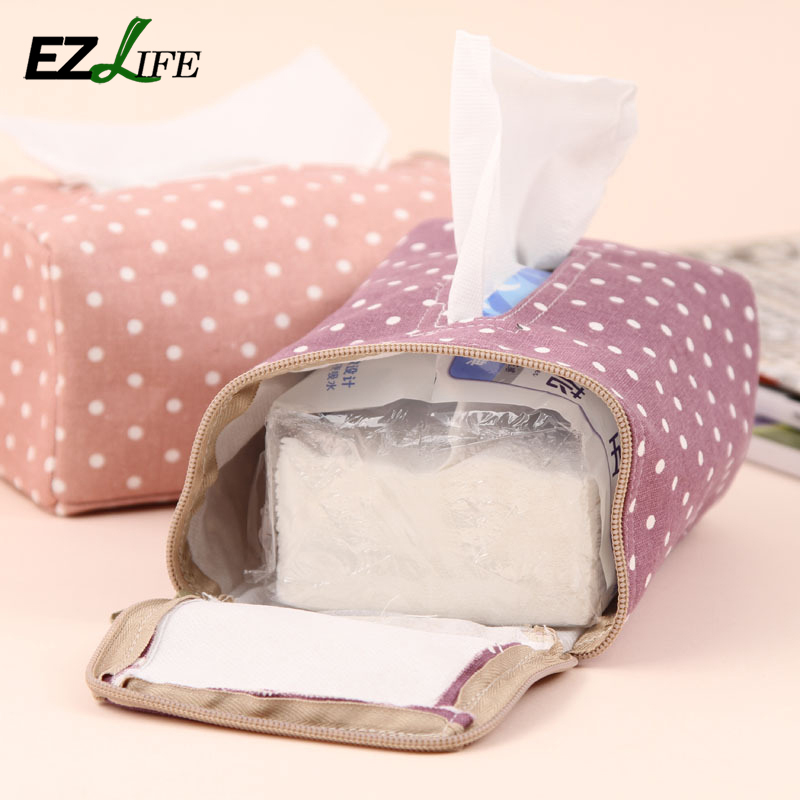 Creative Table Decoration Cotton Tissue Boxes Candy Color Dot Storage Tissue Case Facial Tissue Home Living Room Supplies KT0454(China (Mainland))