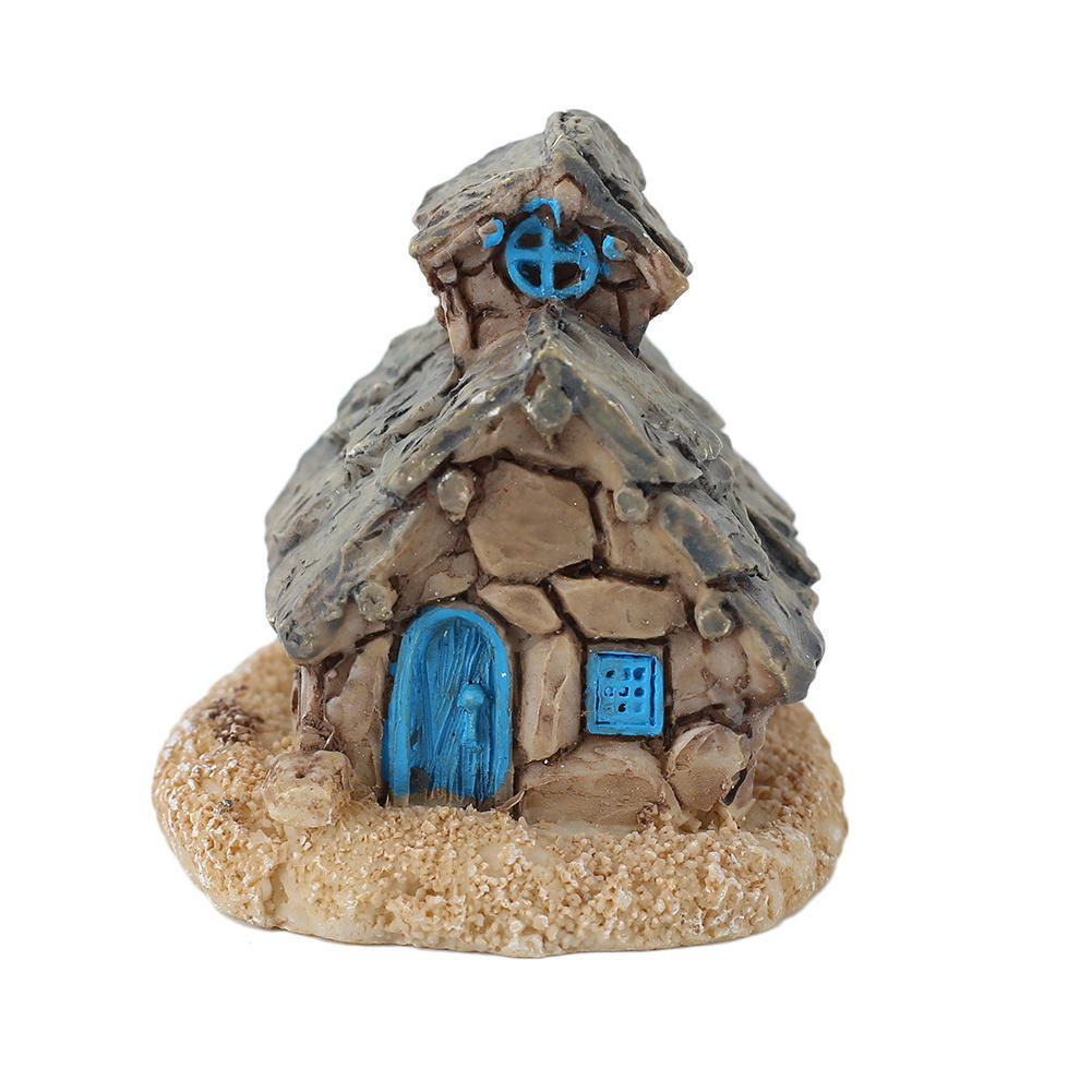 Micro stone house fairy garden miniature cottage landscape for Figurine decoration jardin