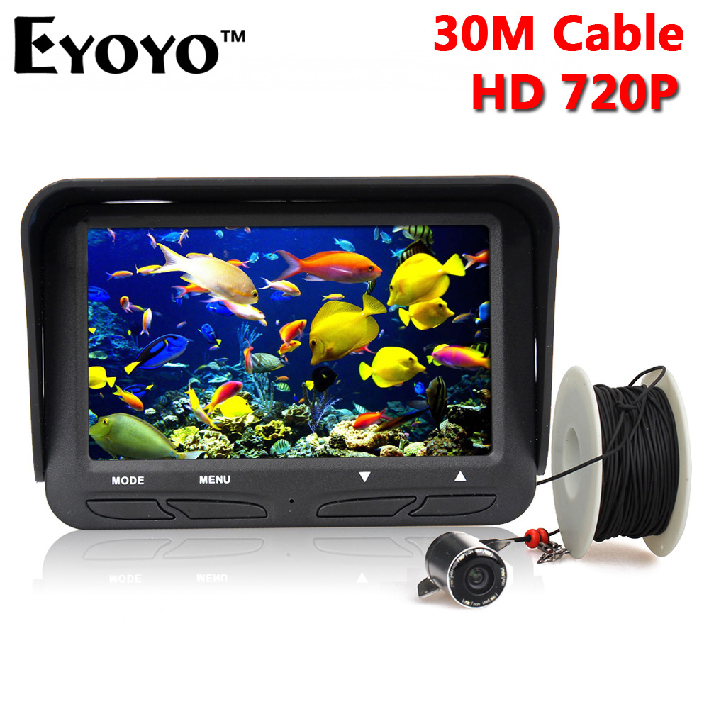 Eyoyo Original 30m 720P Professional Fish Finder Underwater Ice Fishing Camera Night Vision 6 Infrared LED 4.3 inch LCD Monitor(China (Mainland))