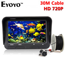 Eyoyo Original 30m 720P Professional Fish Finder Underwater Ice Fishing Camera Night Vision 6 Infrared LED 4.3 inch LCD Monitor(China (Mainland))