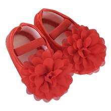 אובדן מכירה 2019 פעוט ילד תינוקת שיפון פרח גומייה יילוד הליכה נעלי תינוק נעלי פעוט נעליים 20(China)