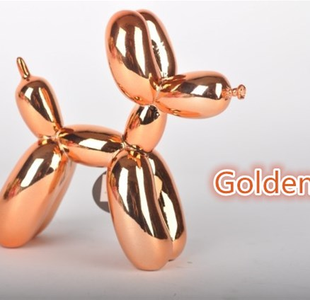 Golden Metallic Medium SIZE Balloon Dog Figurine Statue Balloon Dog American Pop Art Resin Craft Love Gift , Free Shipping(China (Mainland))