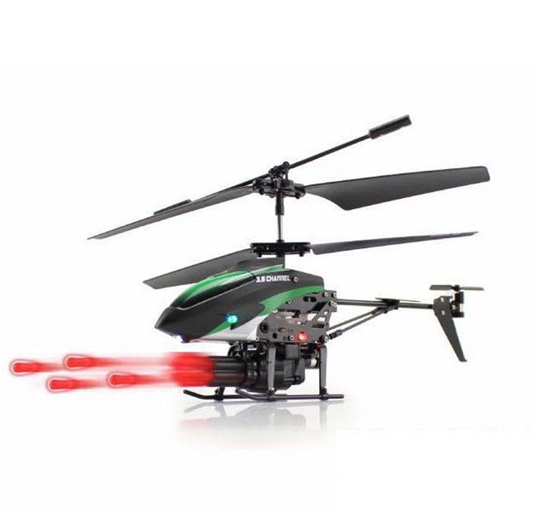 Wltoys V398 3.5CH RC Helicopter Missile Launching Rc Shooter Helicopter with Gyro Hobees(China (Mainland))